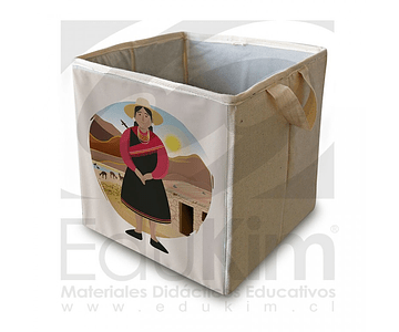 Caja plegable diseño Atacameño Mujer 30 cm