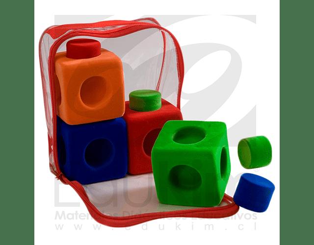 Set de 4 cubos conectores grandes