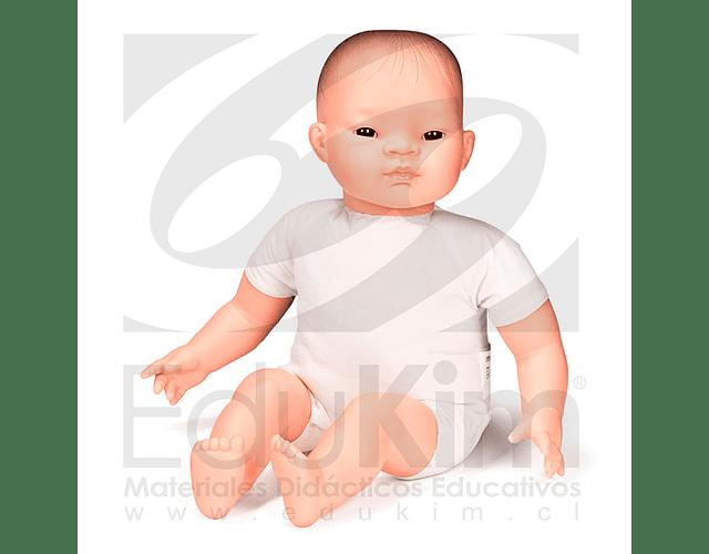 Muñeco pelón asiático 40cm.