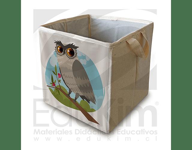 Caja plegable diseño Buho 26 cm