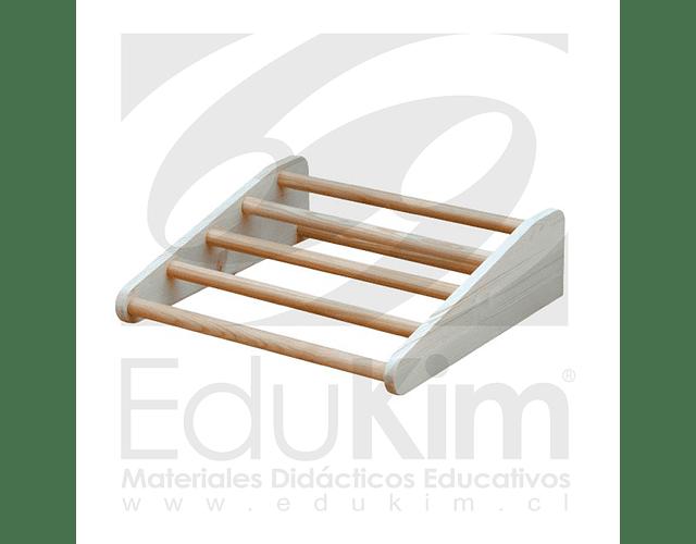 Conjunto rampa de gateo trepador, dos rampas y cajón Pikler Edukim