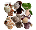 Set de Títeres Animales Salvajes (6 unidades)