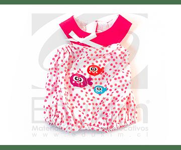 Pijama Puntos Rosado. Muñecos Miniland 32 cm