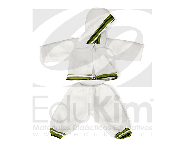 Polerón y pantalón de buzo. Muñecos Miniland 40 cm