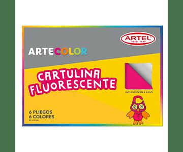 ARTECOLOR CARTULINA FLUORESCENTE 6H 6 COL