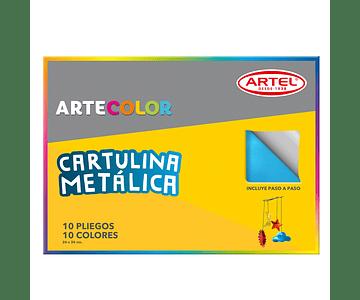 ARTECOLOR CARTULINA METALICA 10H