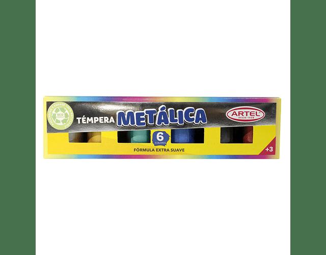 ESTUCHE TEMPERAS METALICAS ARTEL 6 COL 15 ML