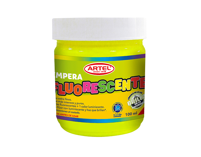 Tempera Fluorescente Amarillo 100 Ml