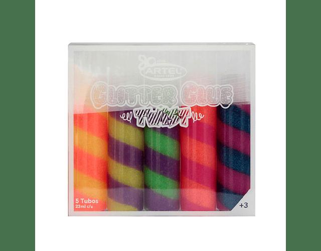 Glitter Glue Doble Color 5 Colores 23G