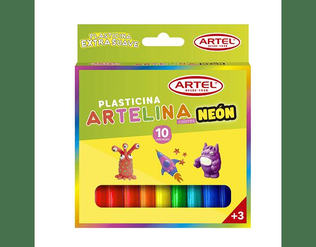 Plasticina Neón 10 Unidades