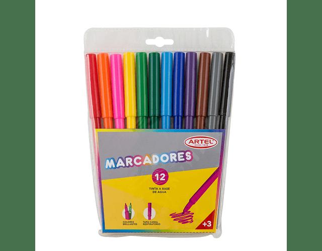 Estuche Marcadores Artel 12 Colores