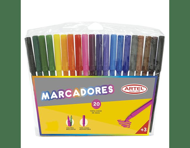 Estuche Marcadores Artel 20 Colores
