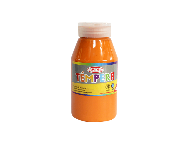 Frasco 250 Ml Témpera Anaranjado 77