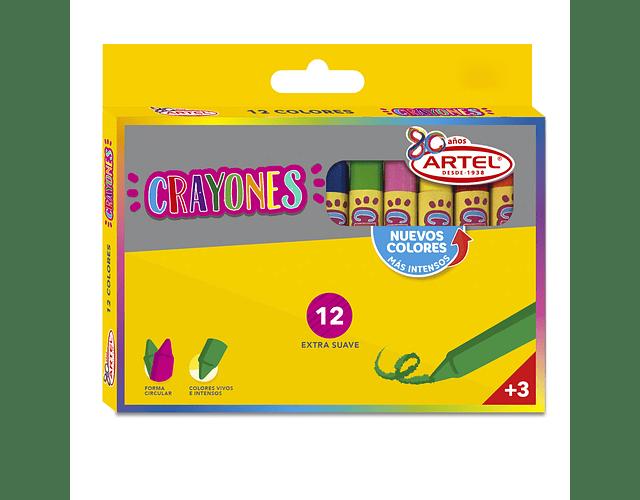 Crayón 12 Colores Artel