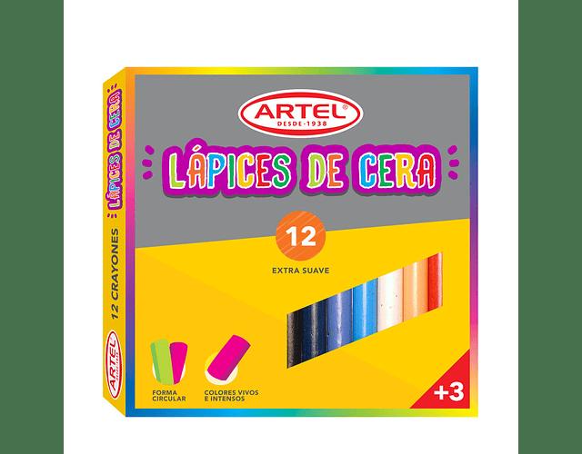 Lápices De Cera 12 Colores Artel