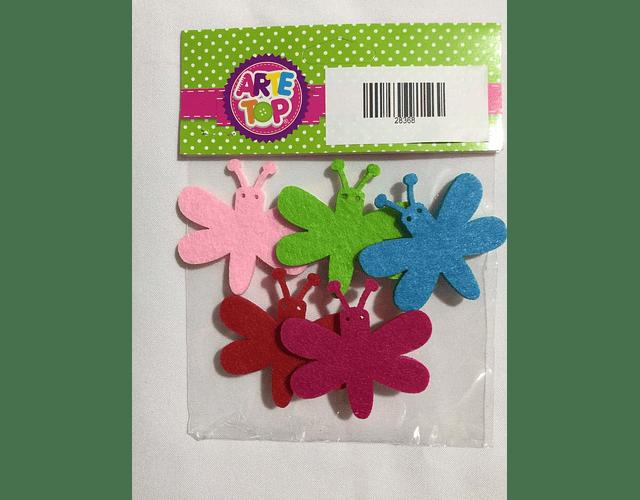 Set de 5 libélulas clasificación para decorar.