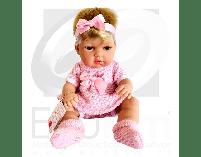 Muñeca Niña vestido rosa