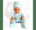 Muñeco niño con body y gorro azul