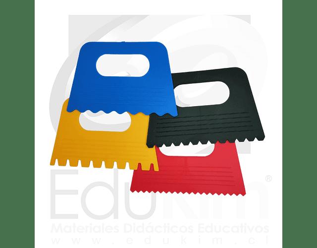Set de espátulas plásticas texturas 4 piezas