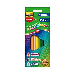 Lápices de colores triangulares