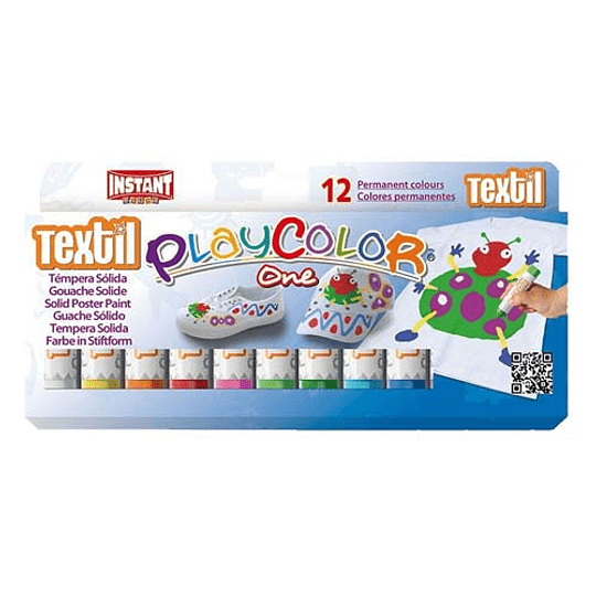 PlayColor Tempera Solida Textil 12 Colores