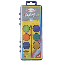Acuarela Artel 6 Colores Incluye Pincel Unidad
