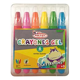 Estuche 6 Crayines Gel Artel