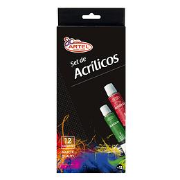Set de Acrilicos Artel 12 Colores