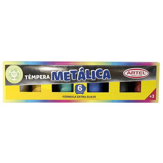Tempera Metálica 6 colores Unidad
