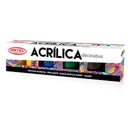 Pintura Acrilica Decorativa 6 colores 15ml Unidad