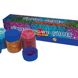 Tempera Glitter 6 Colores 15ml Unidad
