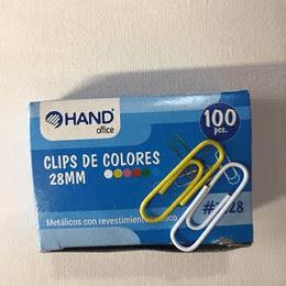 Caja Clips Color Metalicos 28mm 100pcs Unidad
