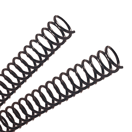 Espiral Plástico • 23 mm • Negro