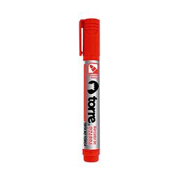 Marcador pizarra punta redonda rojo