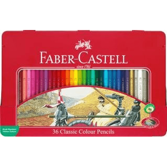 Lápiz color Classic hexagonal lata x36
