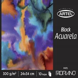 Block Acuarela 24x34 cms 300g/m2 Unidad