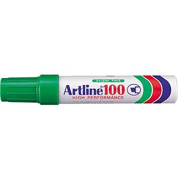 Marcador Permanente 100 Verde Unidad