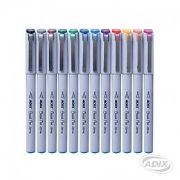 Set de Brush Pen Punta Fina 12 Colores