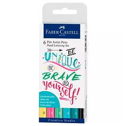 Pitt Artist Pen Hand Lettering,6  tonos pastel