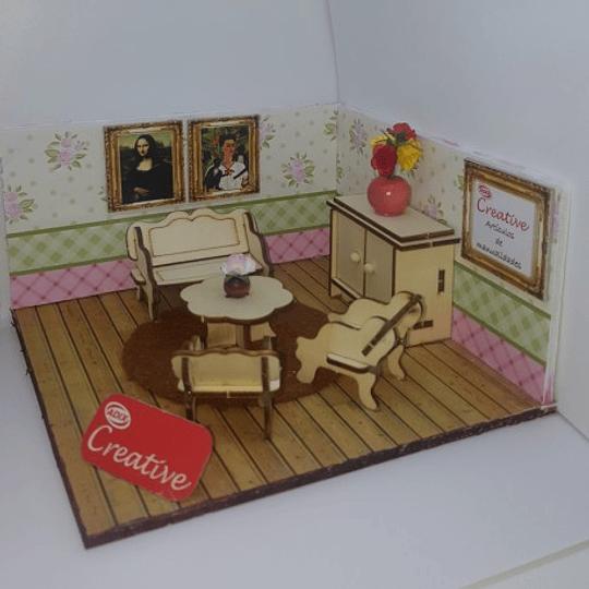 Mueble Miniatura Armable Living