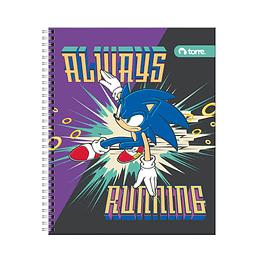 Cuadernos Universitario Sonic 7mm 100hjs