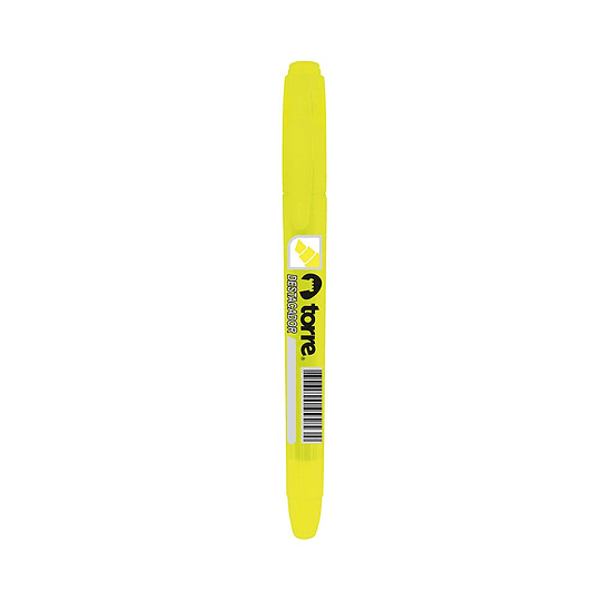 Destacador tipo lápiz amarillo