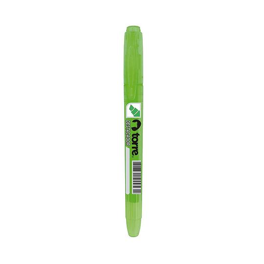 Destacador tipo lápiz verde