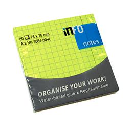Sticky Notes Cuadricula 80 hjs 75x75 mm Unidad