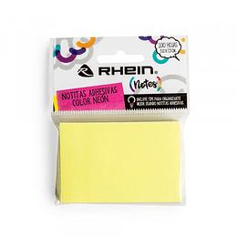 Nota adhesivas color Neón Amarillo 100 hjs 5.0x7.5 cm