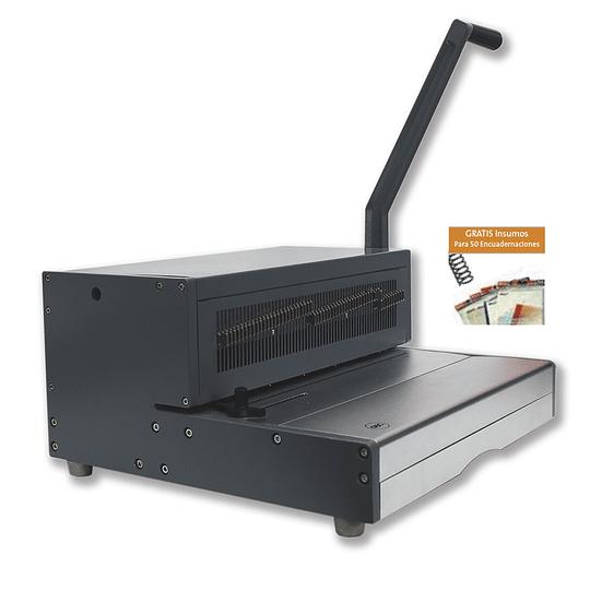 Epiralera Ibispiral Pro Oficio GBC PC360M + 50 Encuadernaciones