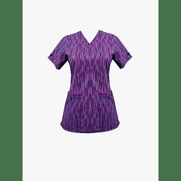 Blusa Estampada diseño Lluvia Fuscia