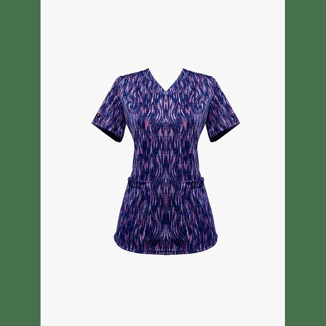 Blusa Estampada diseño Aurora Fuscia