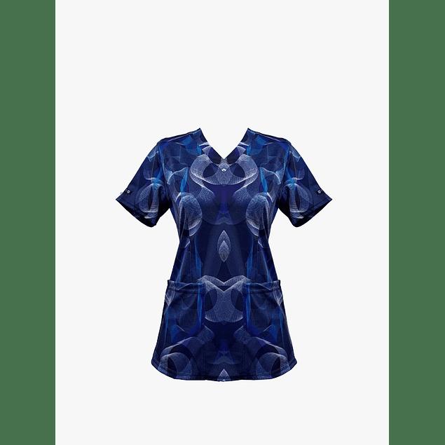 Blusa Estampada diseño Ondas Marinas