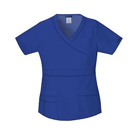 BLUSA MEDICA REY/ROYAL MODELO CARGO POPLIN  HILO BLANCO